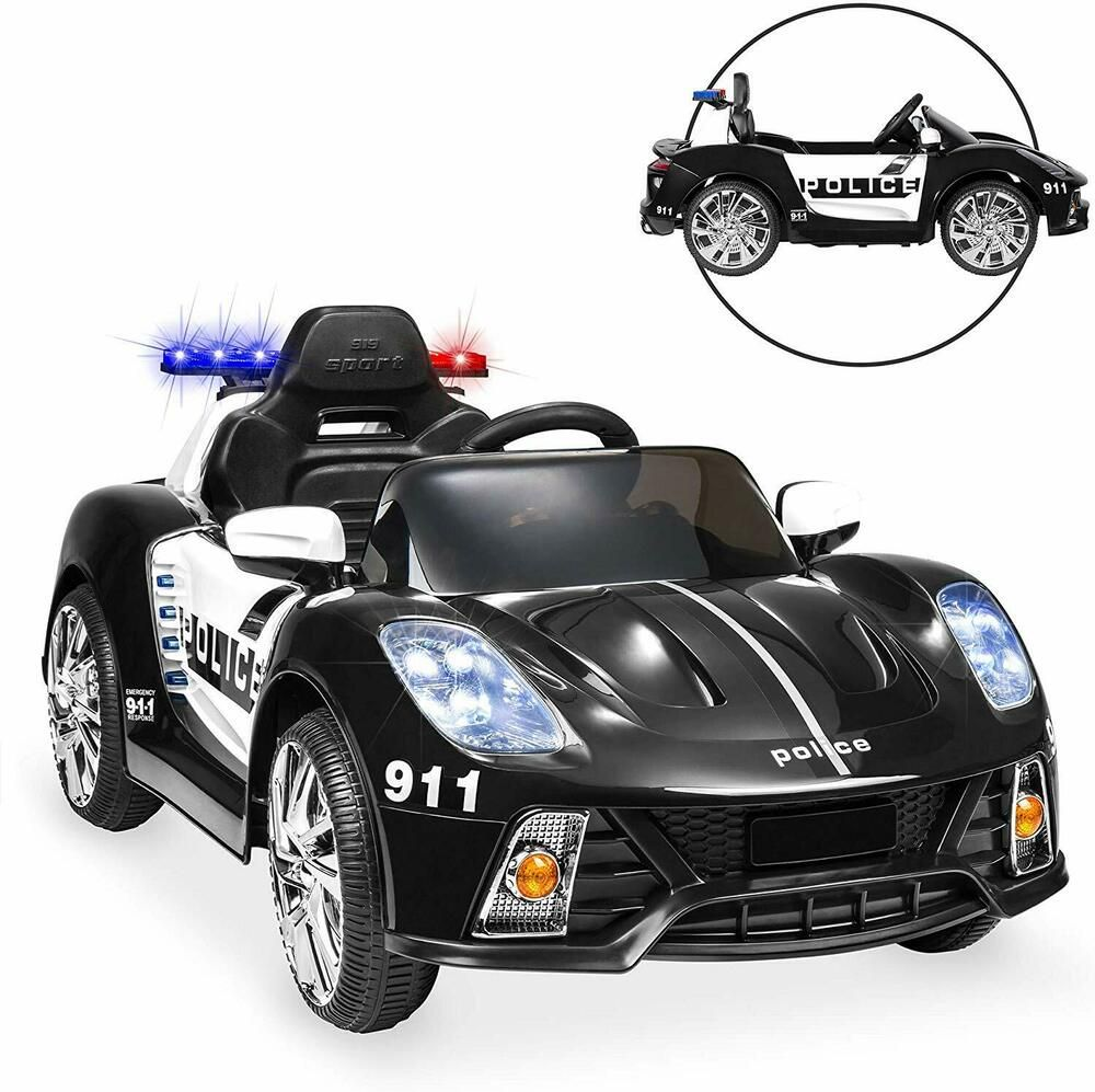 Kids Ride On Sport Car Racing 12v Aux Port Rc Siren Horn Supercar Police Edition Unbranded Kids Rideon Sports Car Sports Car Kids Police Kids Ride On Toys