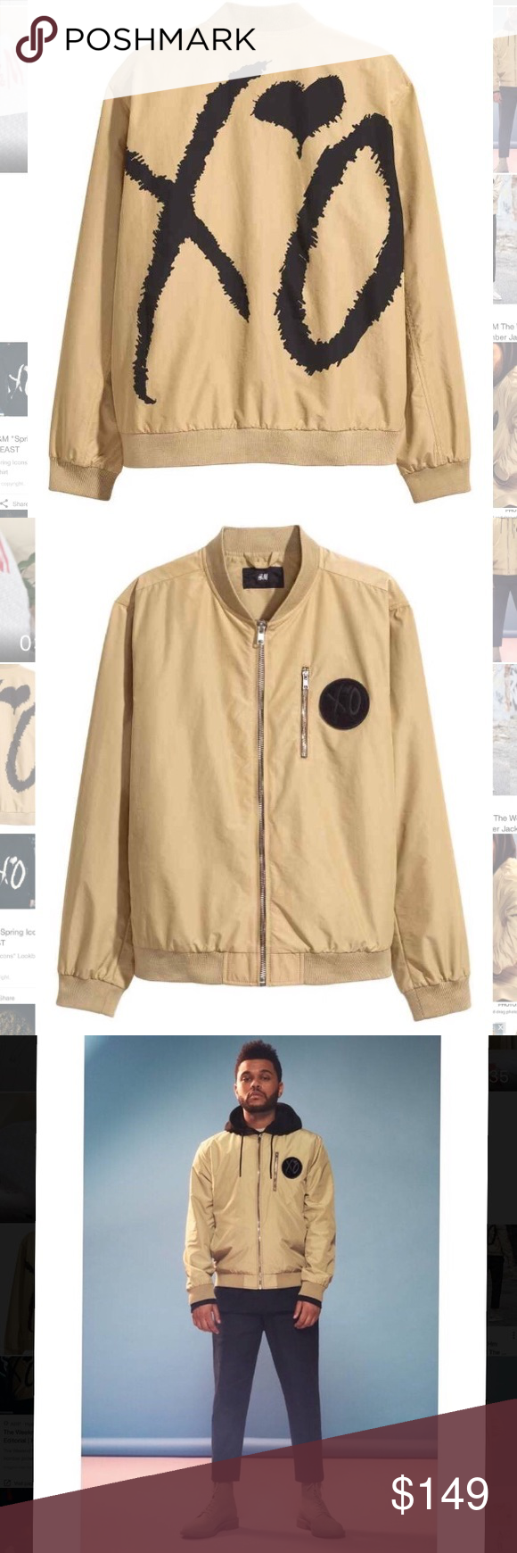 The Weeknd Xo H M Bomber Bomber Jacket Clothes Design Fashion [ 1740 x 580 Pixel ]