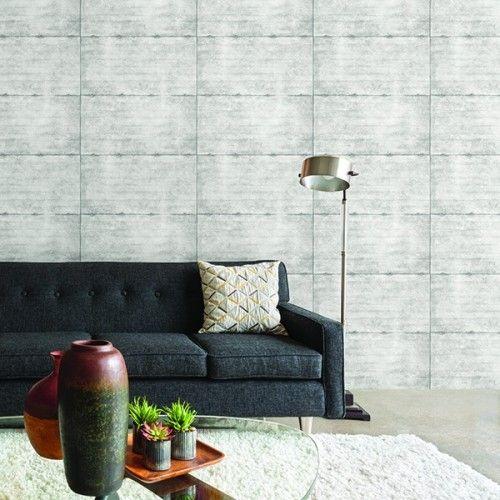 Tapete Stein-Optik Beton Wand Rasch Textil grau 022314 - graue wand und stein