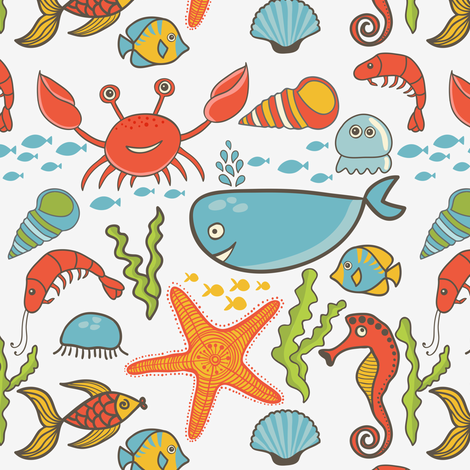 Ocean Life fabric by forthelove on Spoonflower - custom fabric