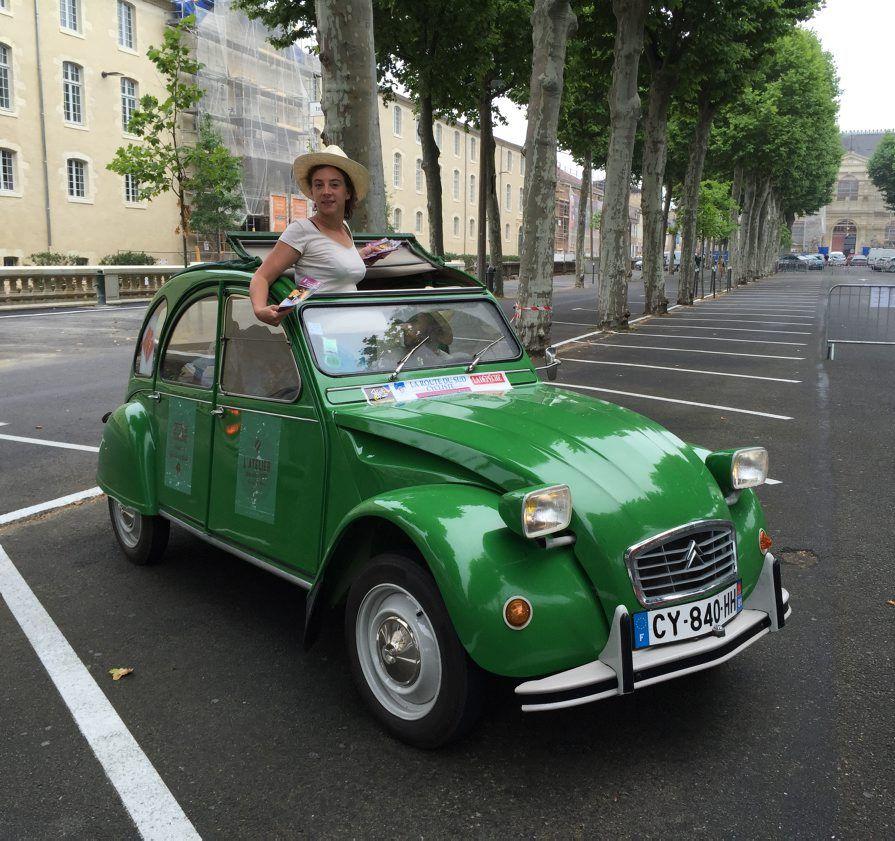 La grenouille 2cv verte de l 39 office de tourisme de gaillac en mobilit inspirations - Office de tourisme gaillac ...