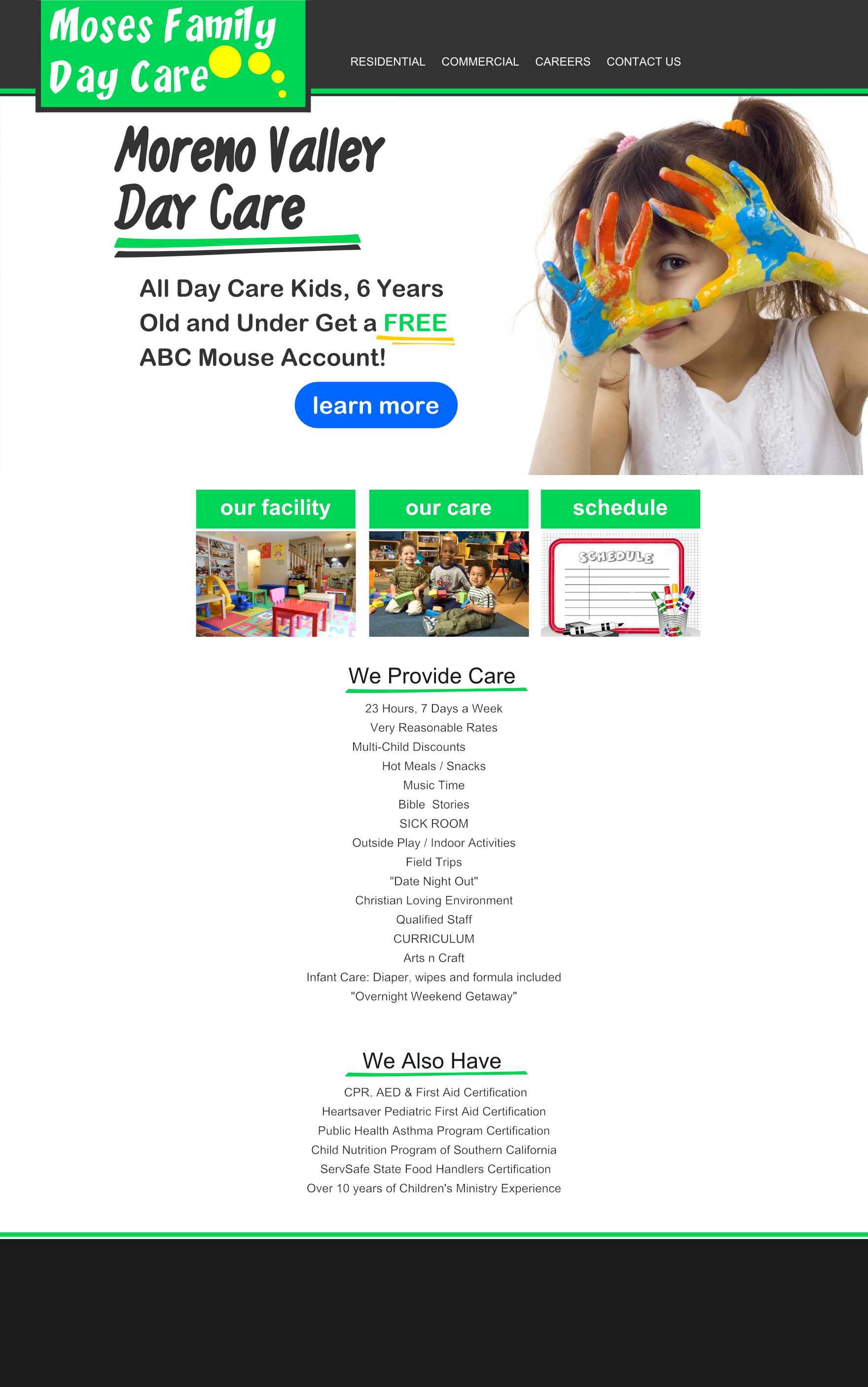 Moses Day Care 702 Pros Web Design Mockup Web Design News Website Design