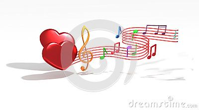 Romantic music notes come from love heart symbols 3d modelling romantic music notes come from love heart symbols ccuart Image collections