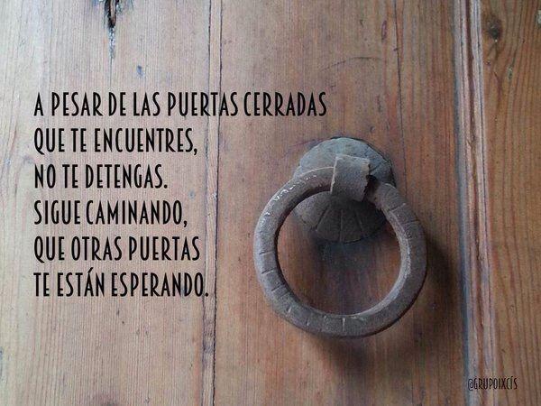 A Pesar De Las Puertas Cerradas Frases De Puertas