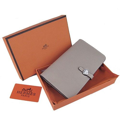 85dadbed4d67 Hermes Dogon Grey Togo Sliver Hardware Women s Wallets money clip ...