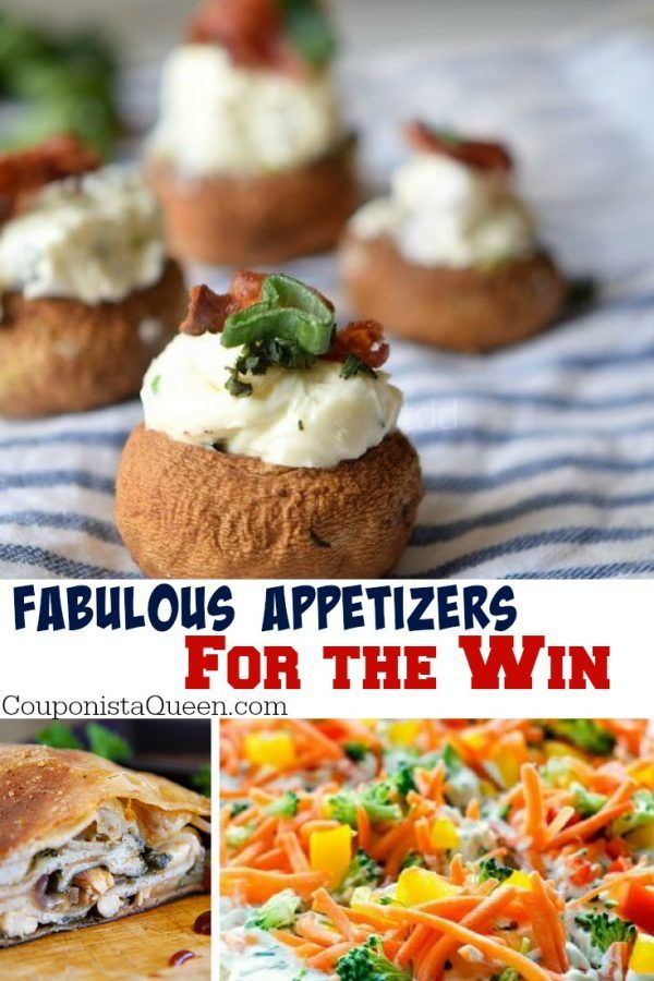 Fabulous Appetizers For The Win! Get cooking with