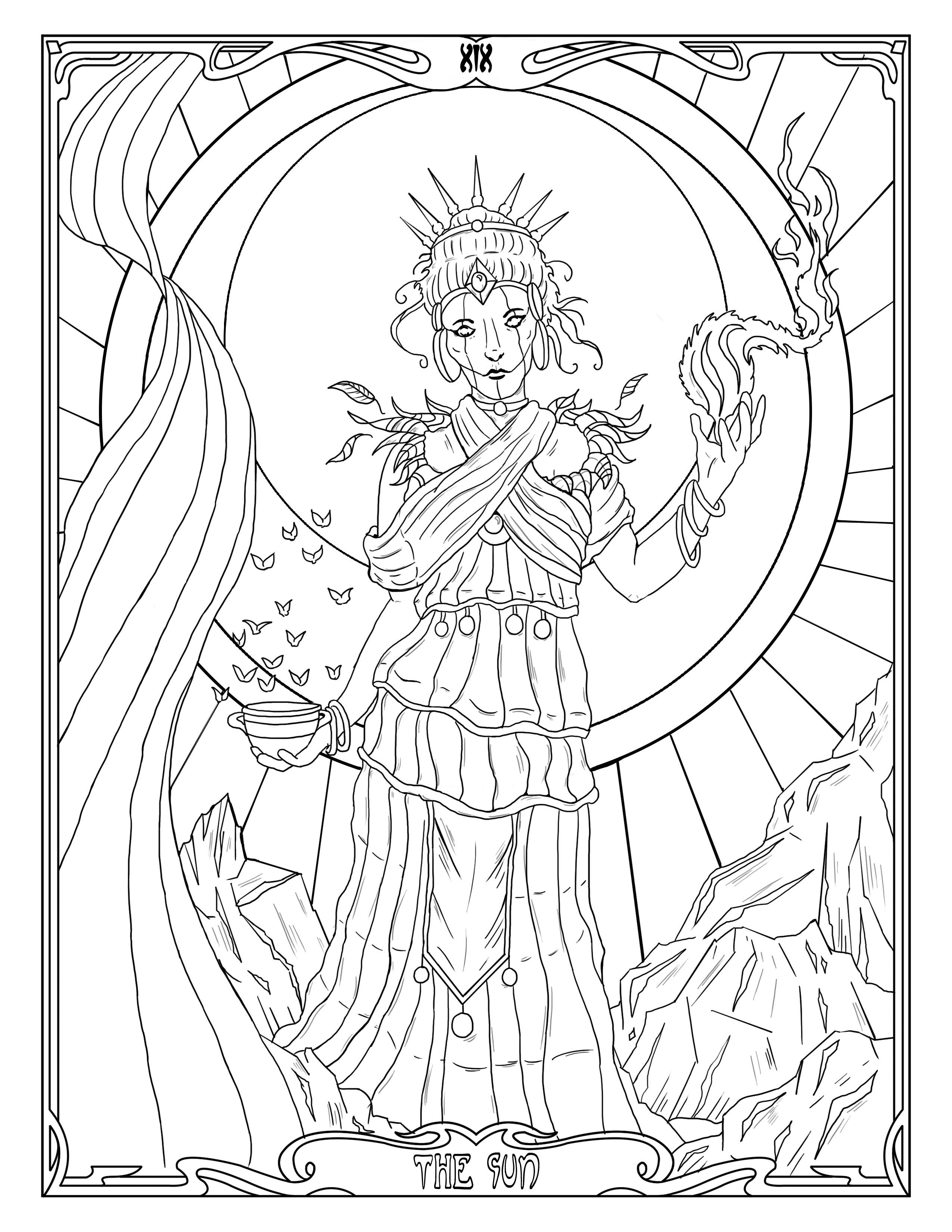 The sun witch light and life hope printable coloring pages