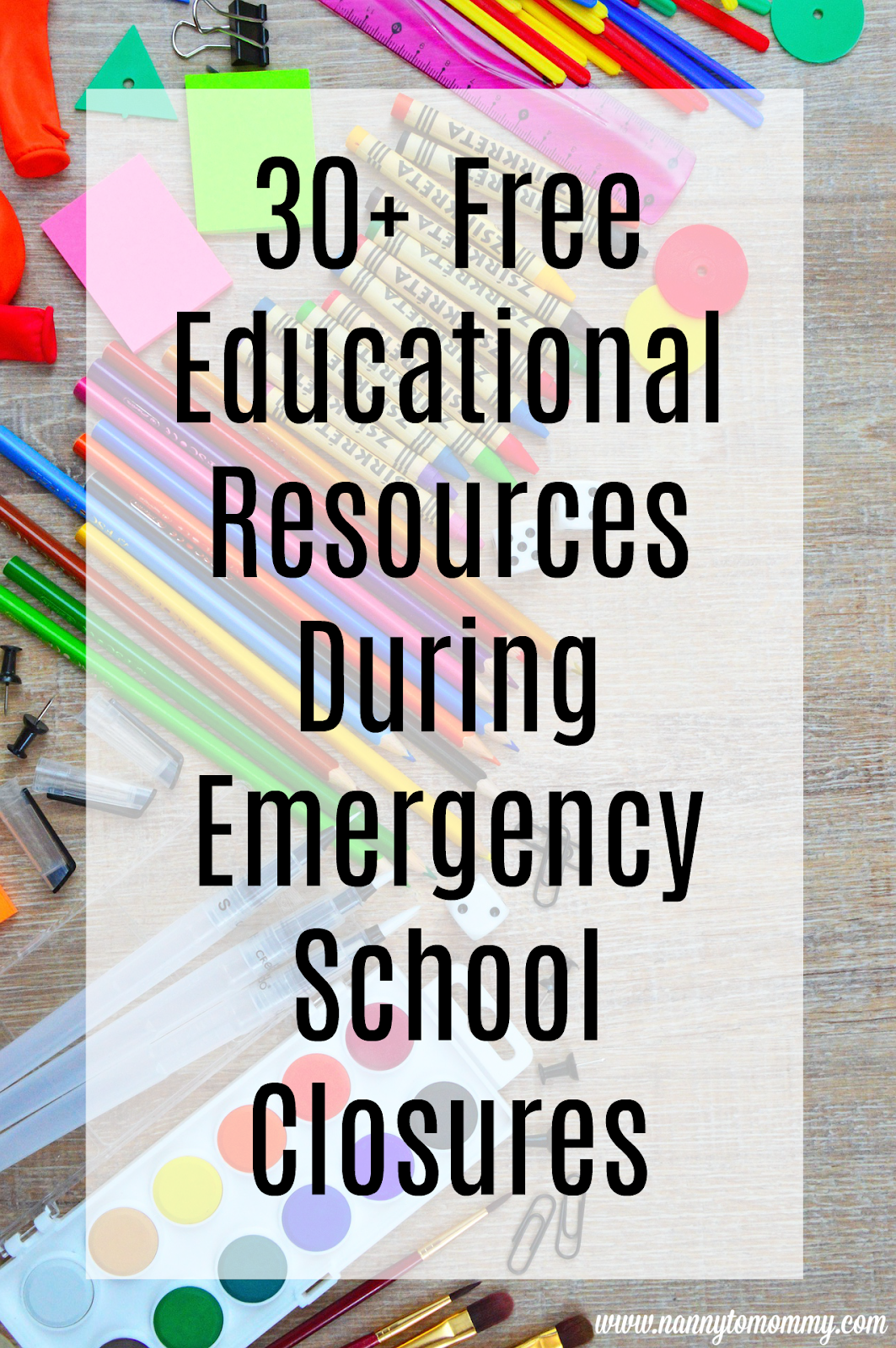 30 Free Educational Resources During Emergency School