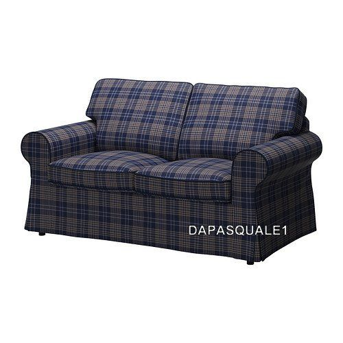 Ikea Ektorp Slipcover For Loveseat 2 Seat Sofa Rutna Multicolor New Cover Only