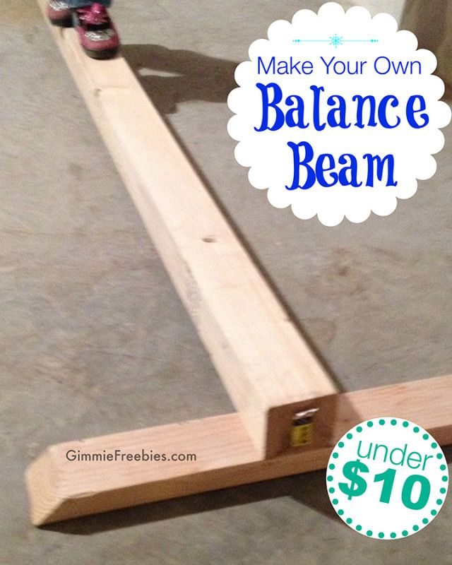 Diy Make A Gymnastics Beam At Home Under 10 In No Time