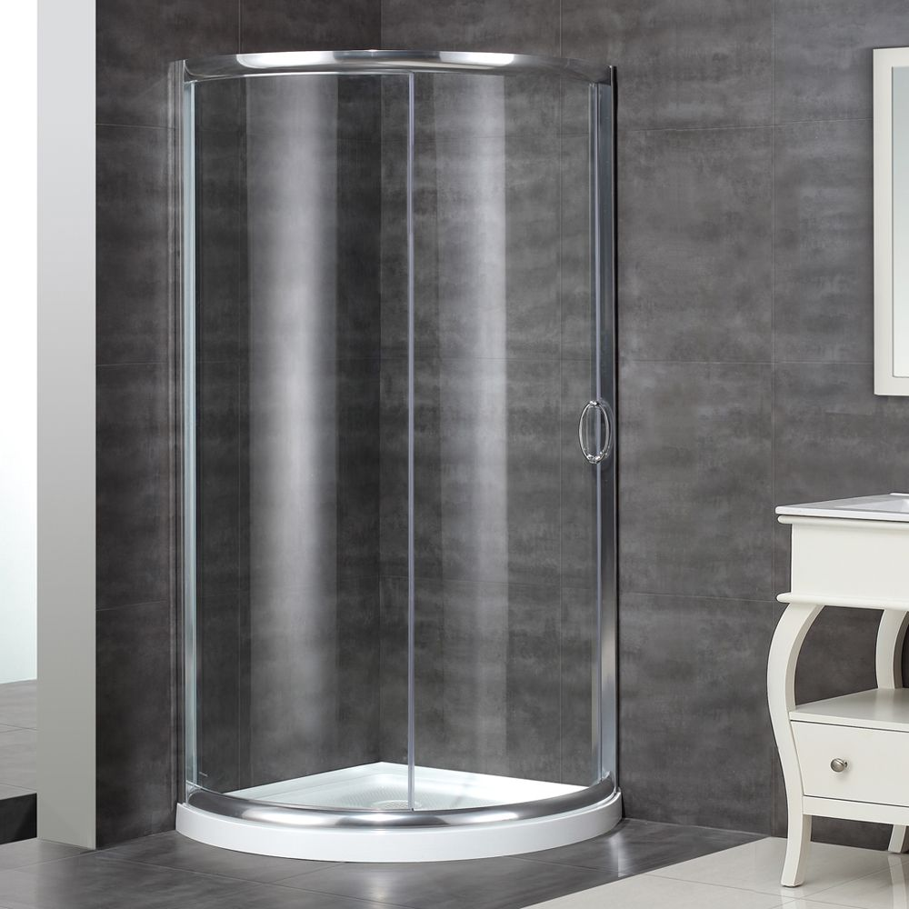 """SD908 36"""" x 36"""" Round Bypass Framed Shower Enclosure"""