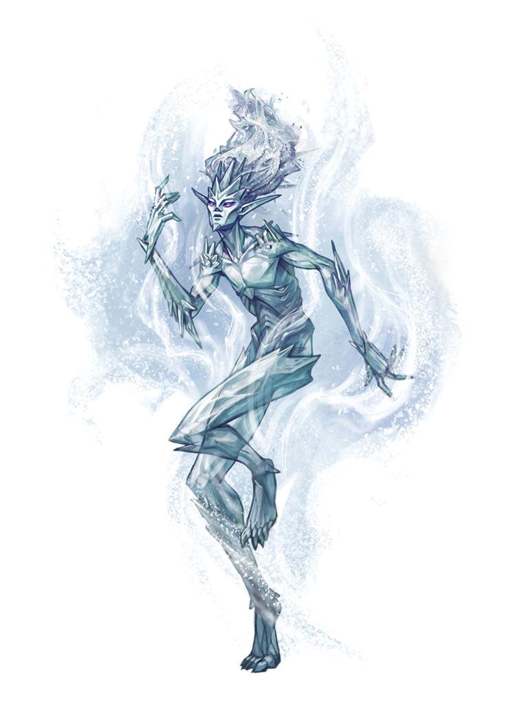 Ice Elemental - Pathfinder PFRPG DND D&D 3 5 5E 5th ed d20