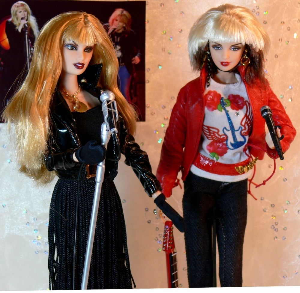 Stevie Nicks & Chrissie Hynde DOLLS 24 Karat PRETENDERS TOUR Custom LTD EDITION #Mattel #CustomDollStevieNicks