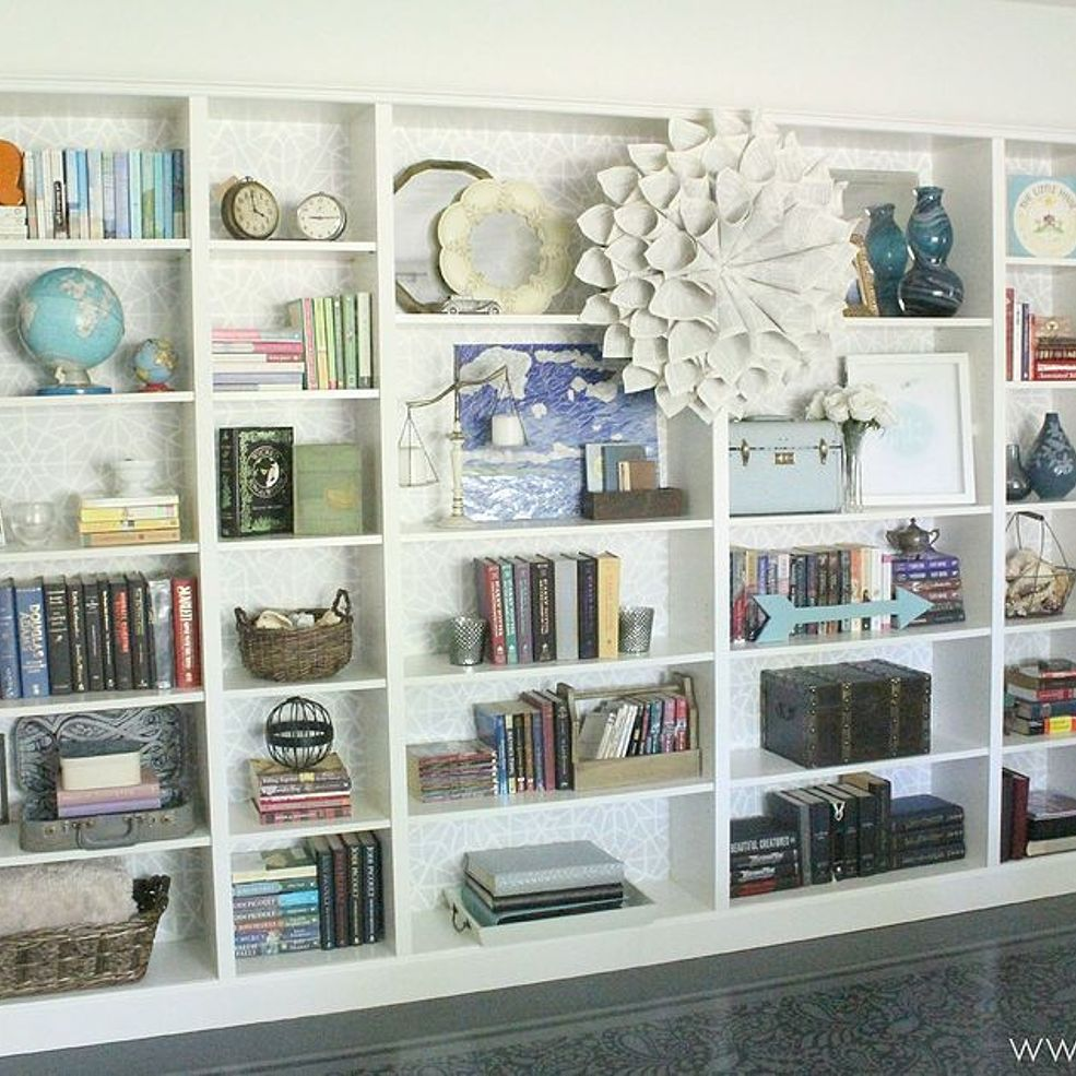 How To Easily Disguise The Cardboard Backing On Ikea Bookcases