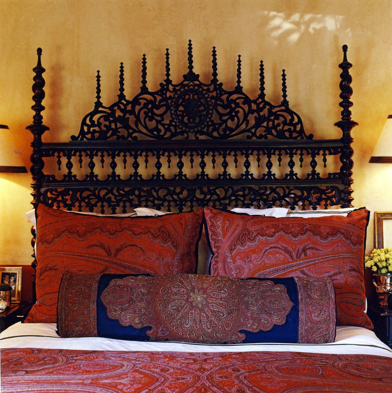 Portuguese Bed Scottish Paisley Fabrics Muebles Pinterest  # Muebles Rizzoli