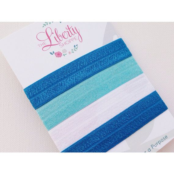 Ocean Blue Collection- 4 Elastic Hair Ties on Etsy, $6.00 Sales help fight against human trafficking!