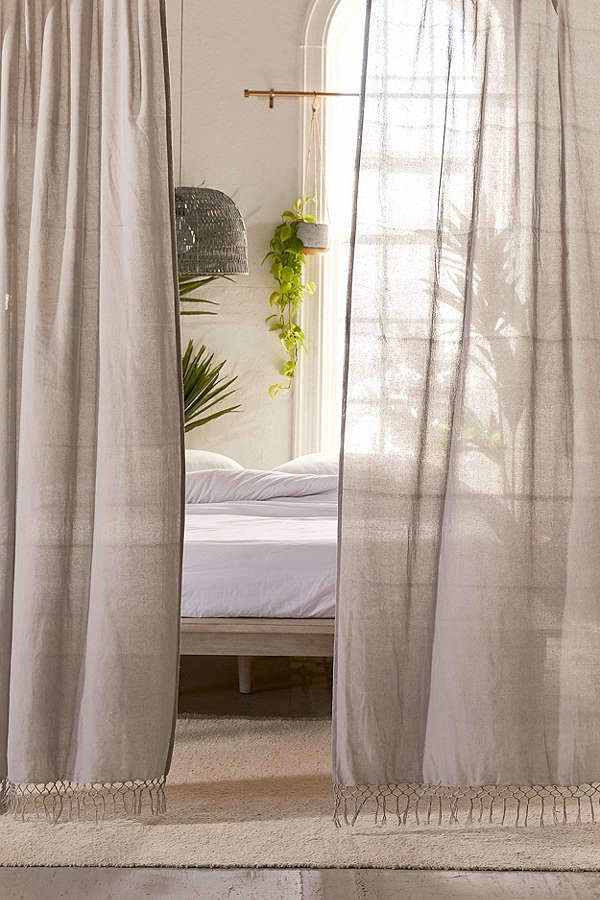 Terra Netted Trim Window Panel is part of Home Accessories Design Window - Modern + minimalist with just the right touch, this window panel features a semisheer cotton weave and knotted fringed trim along bottom edge  Only at Urban Outfitters  Content + Care    100% cotton    Machine wash    Imported