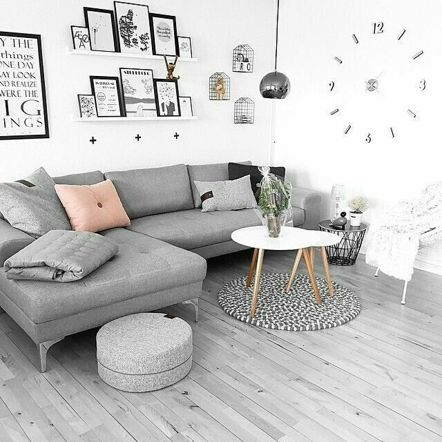 Scandi Style Living Room In Grey