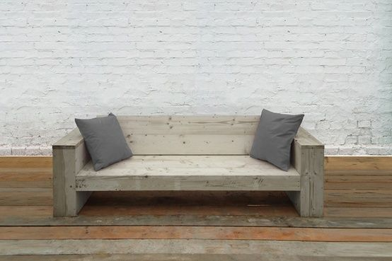 Möbel Marshall lounge made of reclaimed scaffolding wood by jo marshall