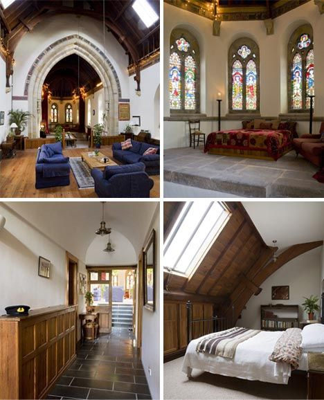 converted church home interior i would so love to live in a converted church like this so. Black Bedroom Furniture Sets. Home Design Ideas