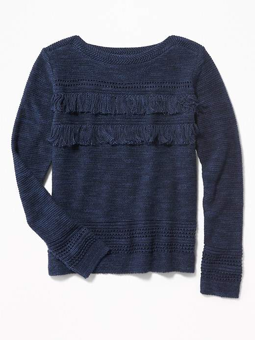 Old Navy Tiered Fringe Sweater For Girls Products Girls Sweaters