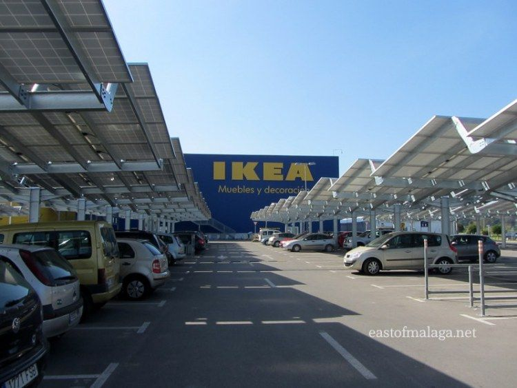 Car park solar panels at Ikea, Malaga | Solar panels, Best