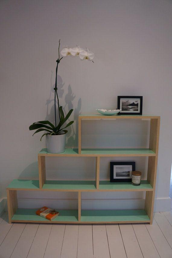 Retro Bookshelf Bookcase Mint Green By Latrestle On Etsy 230 00 Beautiful Furniture Bookcase House Interior