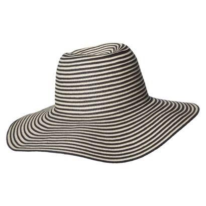 4c255f89539 Striped Floppy Hat - Black Natural
