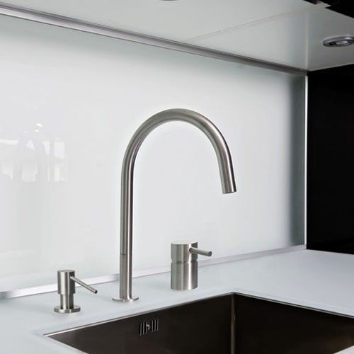 Built In Stainless Steel Kitchen Soap Dispenser From MGS Faucets