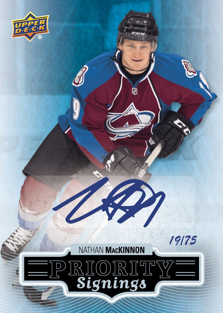 nathan mackinnon rookie card expo priority signings upper