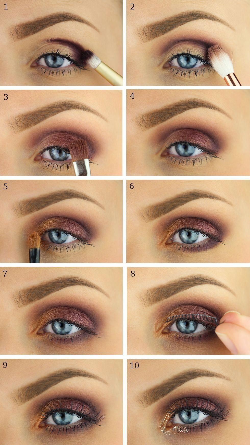 makeup, tutorial, smink, step by step, eyemakeup, party