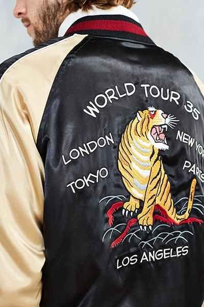 Maharishi camo tour jacket tan and off white colored camo jacket stussy satin souvenir jacket gumiabroncs Gallery