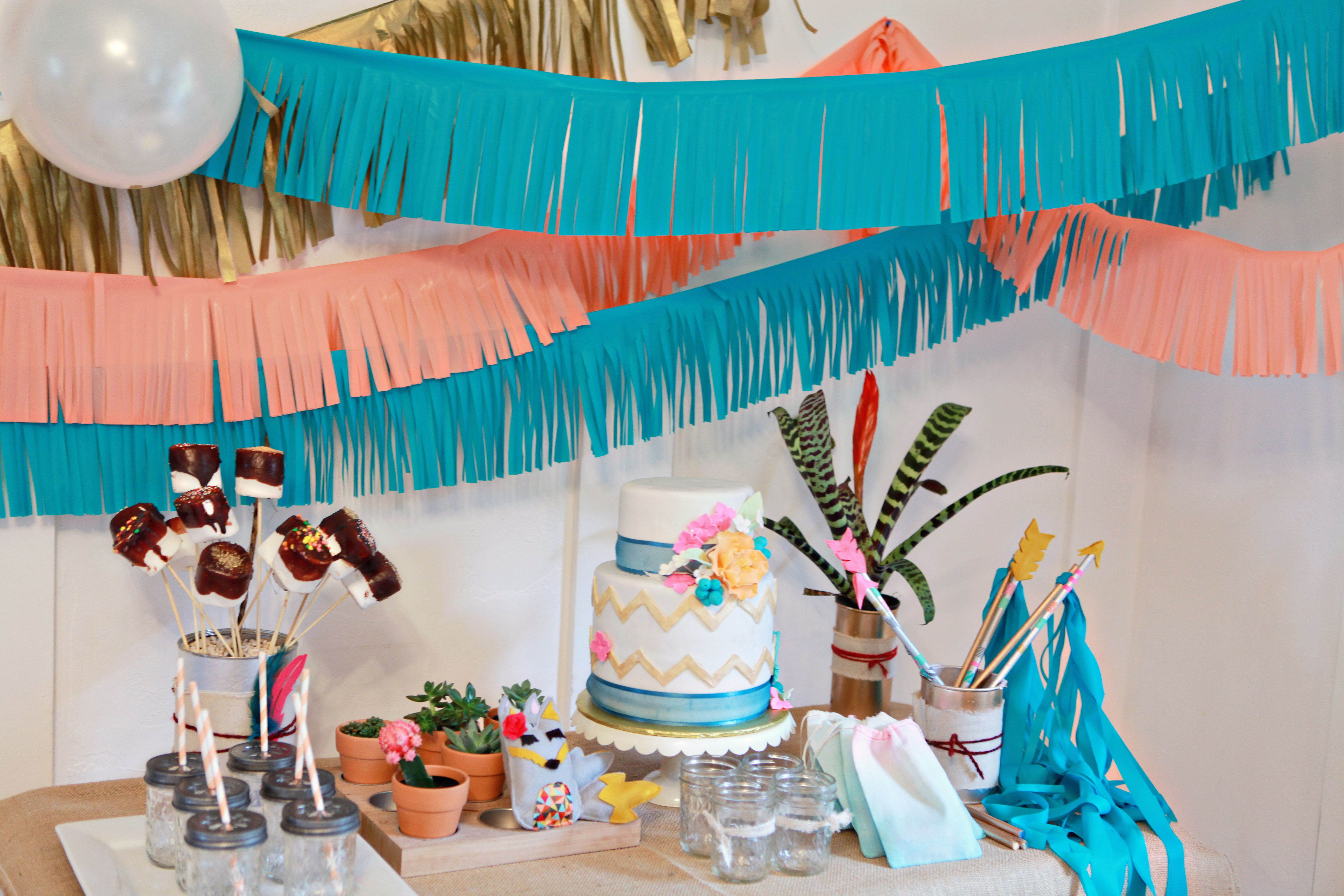 Little Indian Party Baby Pocahontas Birthday Party Indian