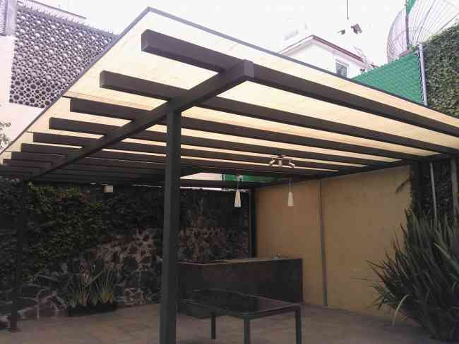 Domos techos translucidos policarbonato lamina de yute - Tejados para pergolas ...