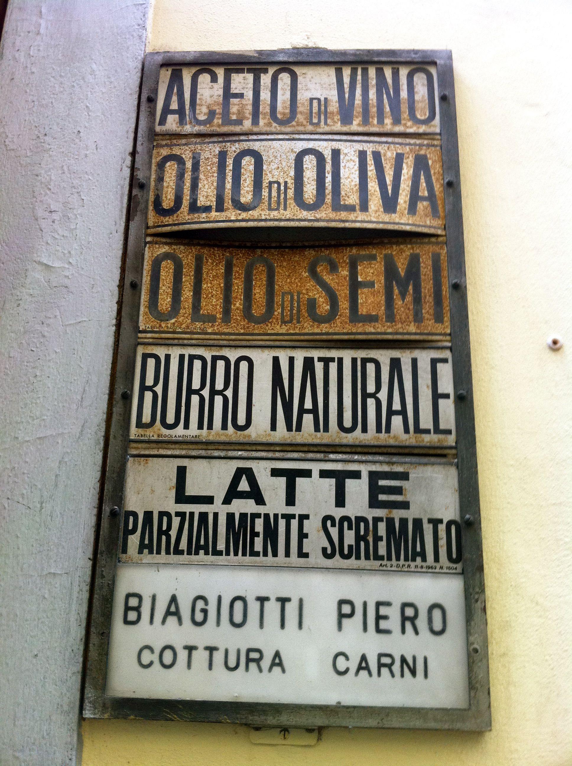 Rome Metal Street Sign Vintage Rustic
