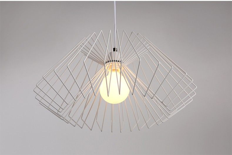 Vintage Industrial Lamp Retro Black Color Hollow Wire Chandelier Lamp For Living Room