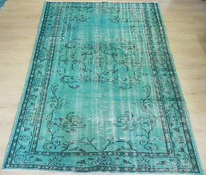 12x18 Us 3 499 20 Overdyed Vintage Blue Turquoise Turkish Rug Custom Made Patchwork Carpets Ebay Rugs Turkish Rug Vintage Turkish Rugs