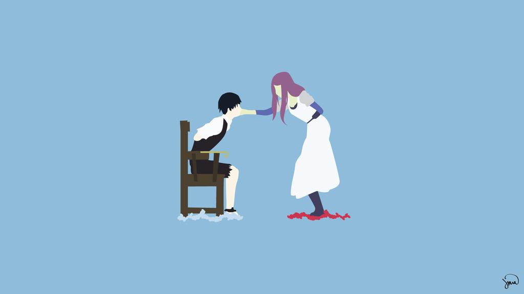 Sasuke Minimalista Fondo: Rize/Kaneki (Tokyo Ghoul) Minimalist Wallpaper By