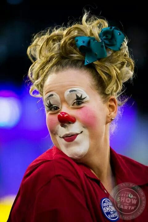 beautiful girl clown from ringling bros and barnum