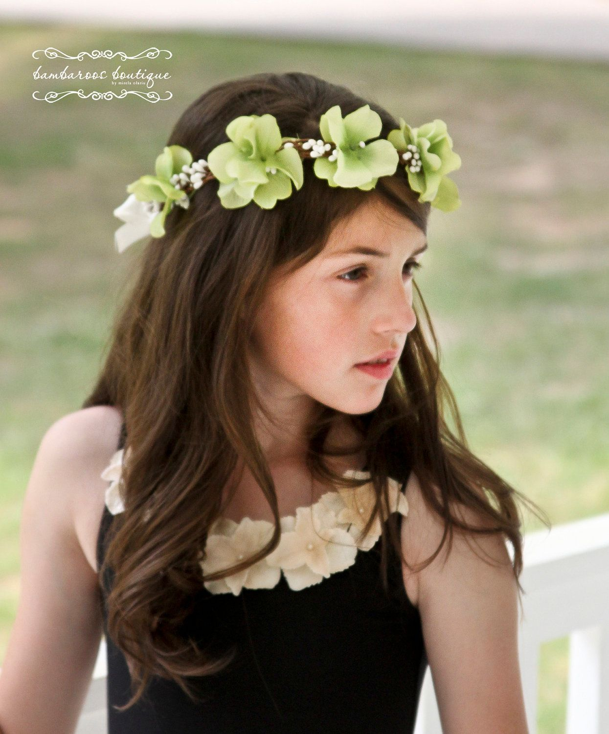 Flower Girl Hair Wreath Accessories Wedding