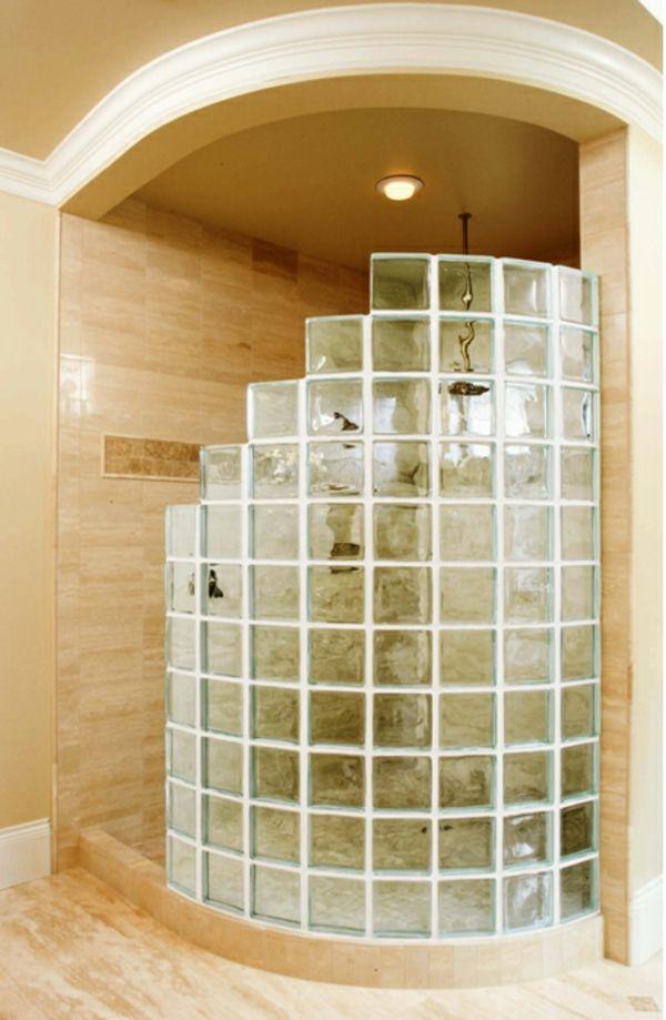 Duschkabine mit glasbausteinen selber bauen - Duschwand aus glasbausteinen ...