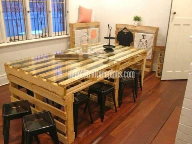 Modest Ideas Pallet Dining Table Reclaimed Wood