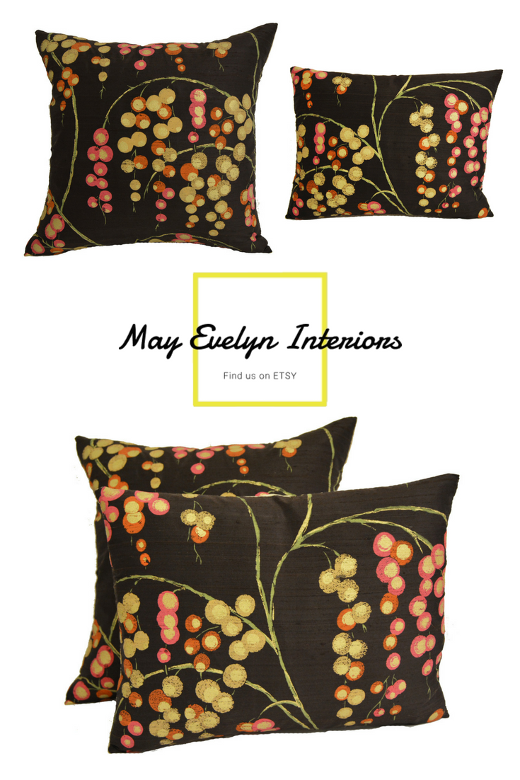 pillow cover is made from a beautifully