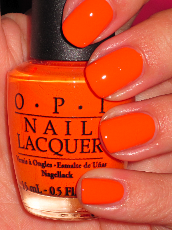 Tangerine Scene by OPI - a little more orange than Pantone\'s pick ...