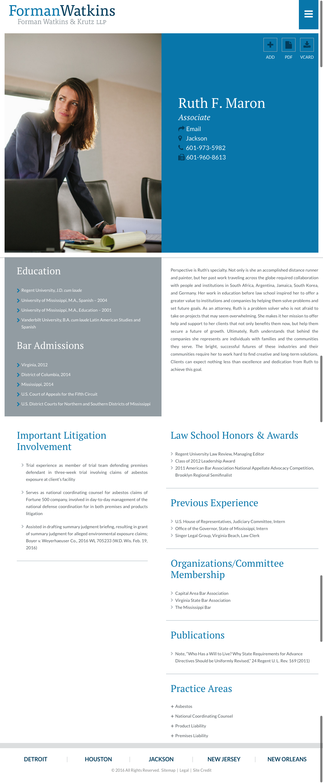 Lawyer Bio Paperstreet Law School Web Layout Law Firm