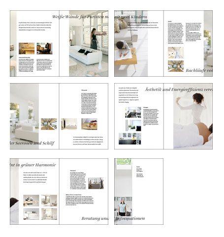 Eine 16-seitige Broschüre zur Verkaufsförderung hochwertiger ...