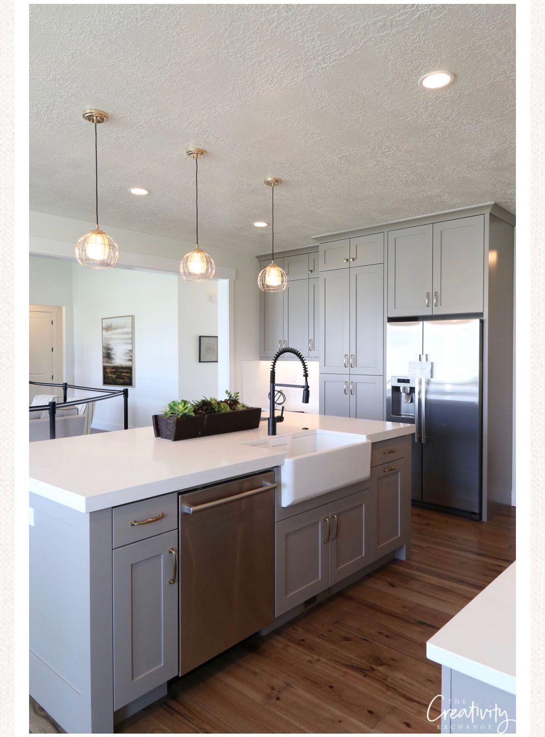 Cabinets BM Fieldstone | kitchen | Farmhouse kitchen ...