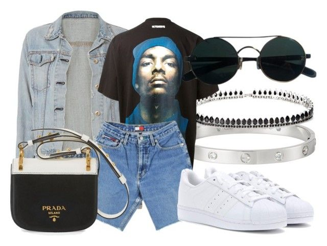 """#Look:#505"" by dollarwomanlux ❤ liked on Polyvore featuring Cartier, Fallon, rag & bone, CÉLINE, adidas and Prada"
