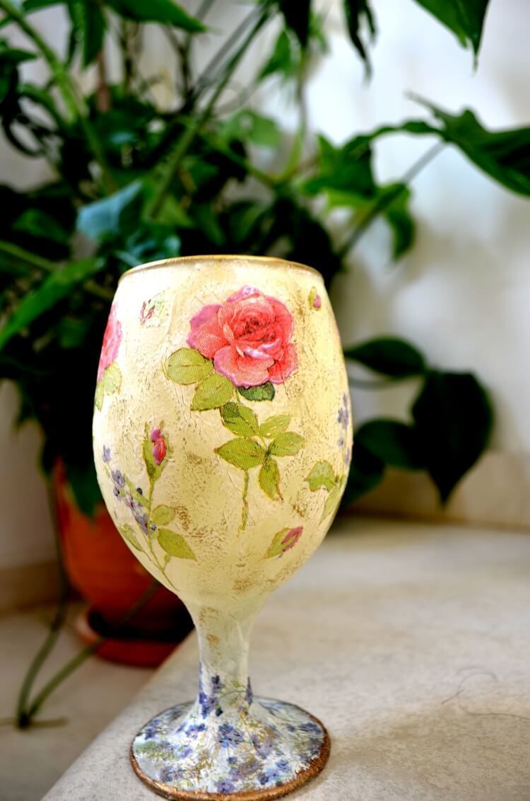 How to decoupage bottles with rice paper, what materials are needed, we will tell you in this article