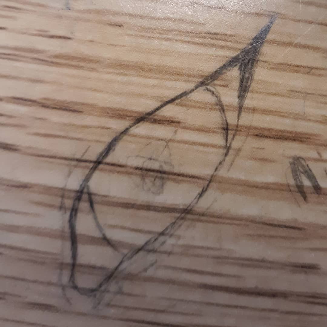 Drawing on desk